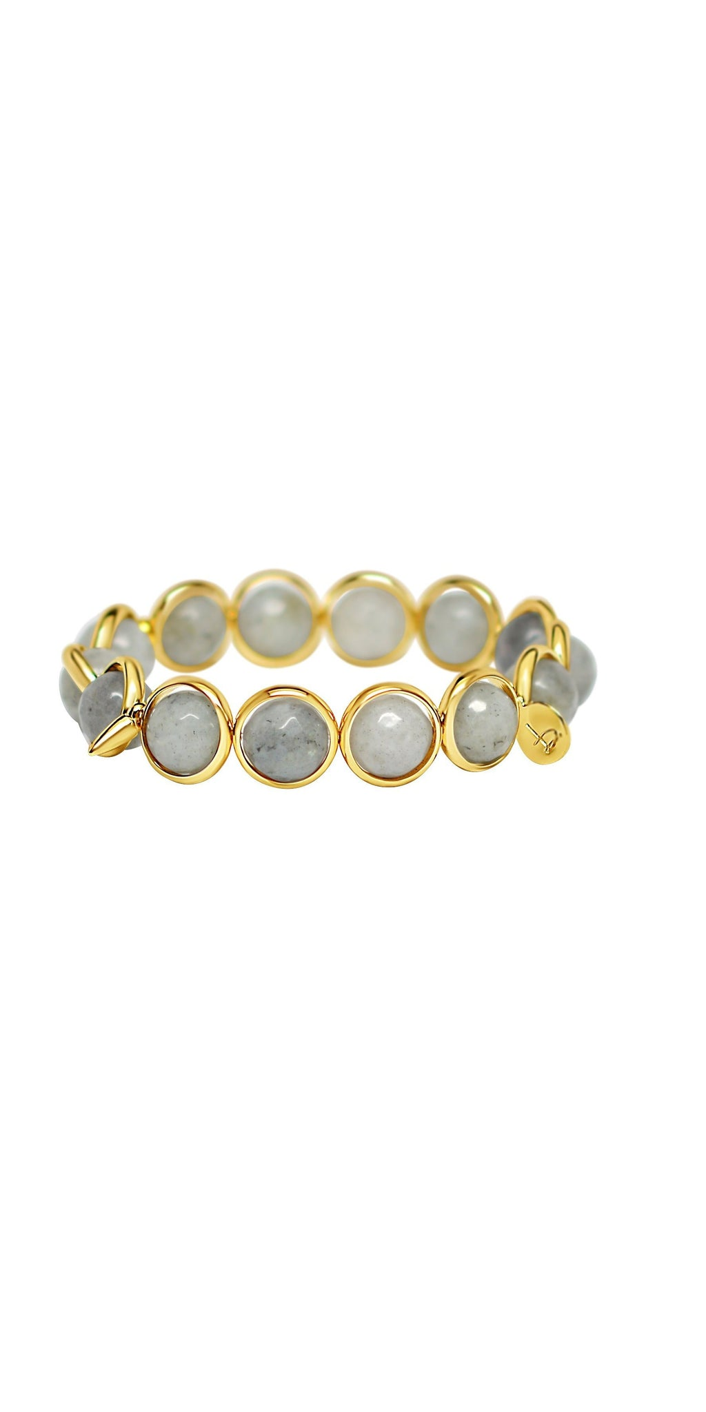 Labradorite Bead Bracelet - Gold-Sea Biscuit Del Mar