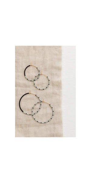 Large Loma Earrings - Fog/Black-Sea Biscuit Del Mar