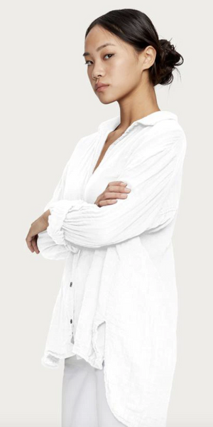 Leo Gauze Button Down - Admiral, White, Sky, Ballet-Sea Biscuit Del Mar