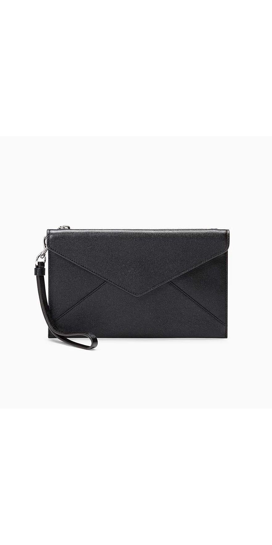Leo Wristlet- Rebecca Minkoff - Black-Sea Biscuit Del Mar