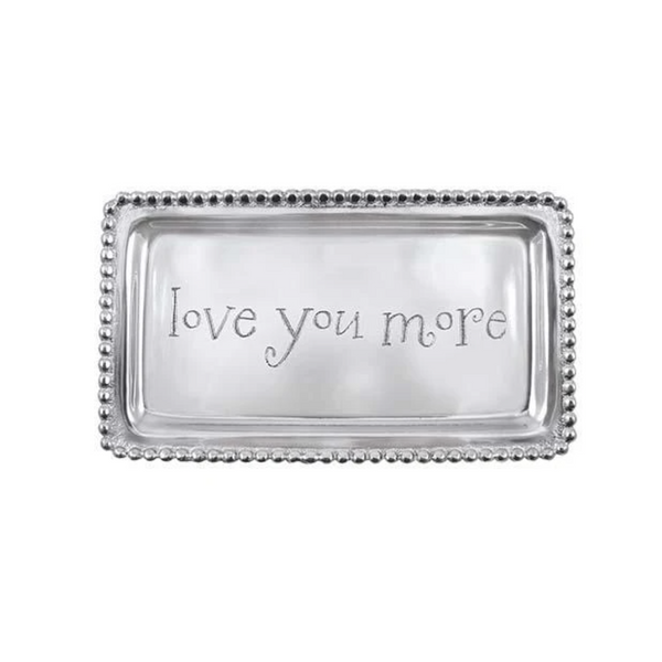 LOVE YOU MORE Beaded Statement Tray-Sea Biscuit Del Mar