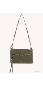 M.A.B. Studded Crossbody - Olive-Sea Biscuit Del Mar