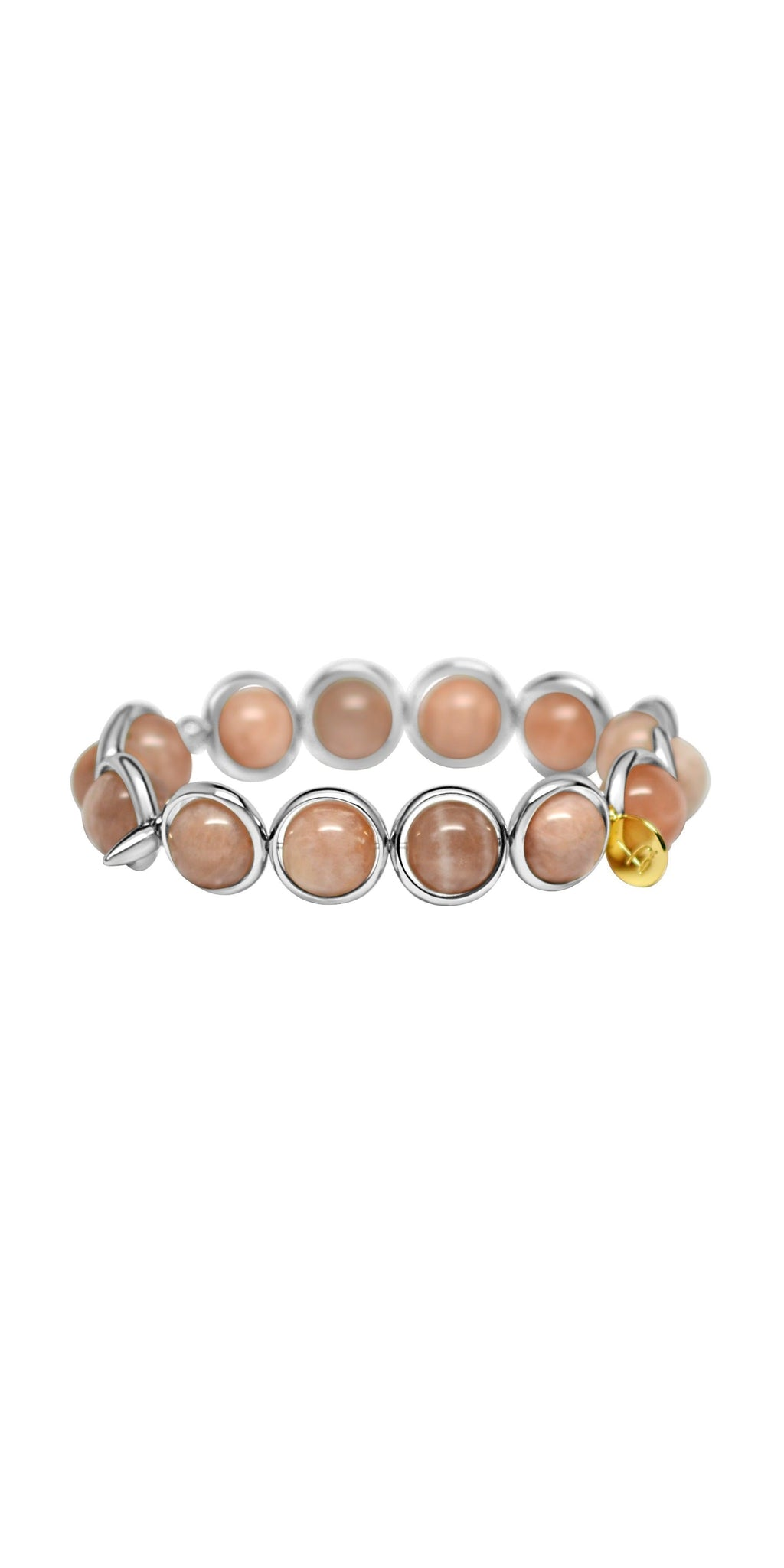 Moonstone Bead Bracelet - Silver-Sea Biscuit Del Mar
