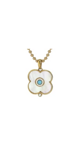 Mother of Pearl Evil Eye Charm - 14k-Sea Biscuit Del Mar