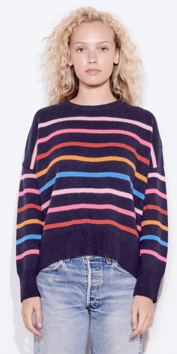 Multi Stripes Sweater-Sea Biscuit Del Mar