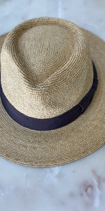 Natural Straw Raffia Fedora-Sea Biscuit Del Mar