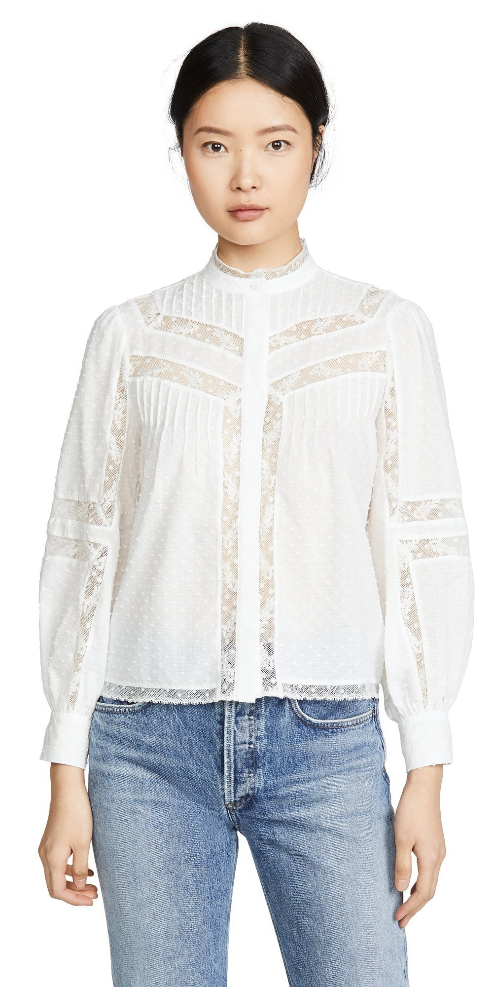Nazly Blouse-Sea Biscuit Del Mar