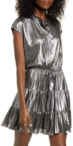 Ollie Dress - Metallic-Sea Biscuit Del Mar