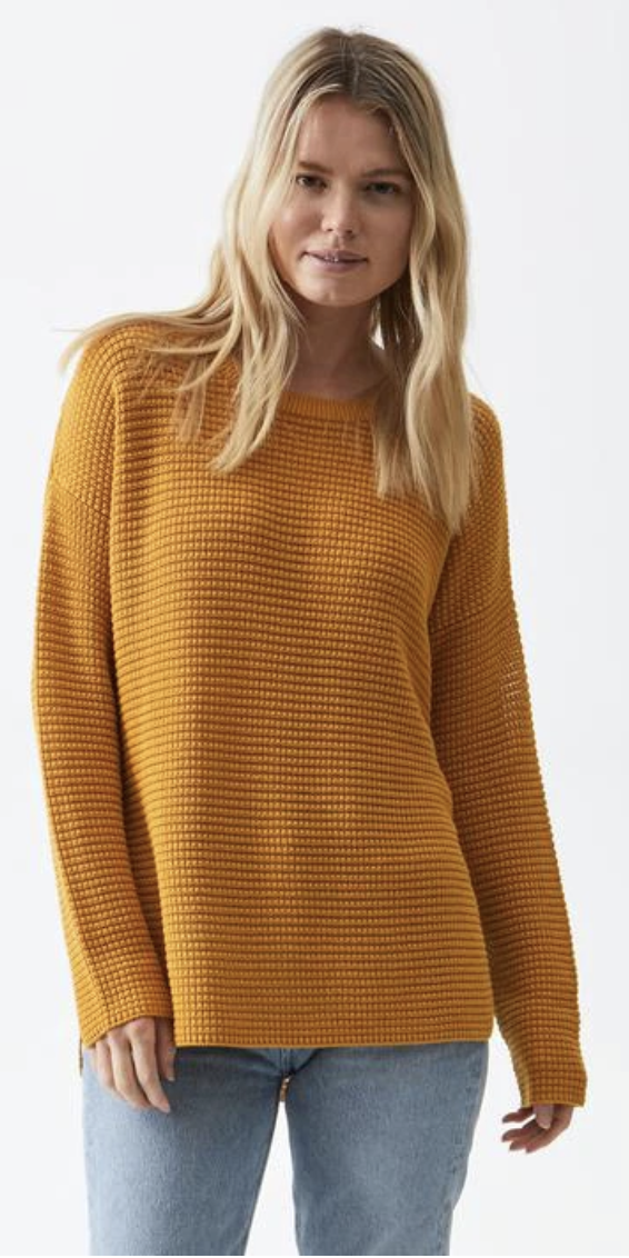 Paige Pullover Sweater - Ochre-Sea Biscuit Del Mar