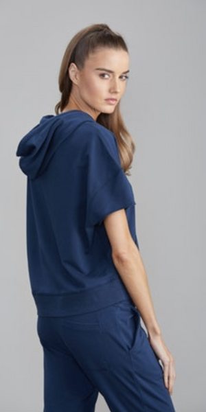Palm Hoodie w/ Pom Pom Trim-Sea Biscuit Del Mar