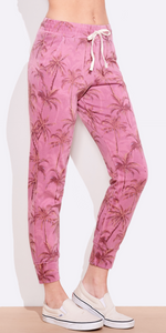 Palms Tapered Pant - Dusty Rose + Lt Charcoal-Sea Biscuit Del Mar