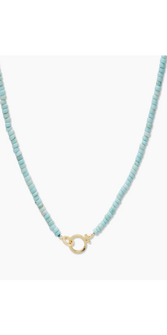 Parker Gem Necklace - Turquoise-Sea Biscuit Del Mar