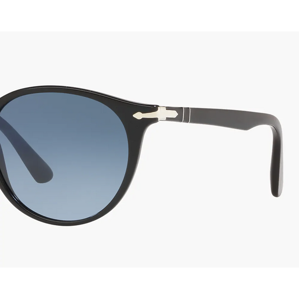 Persol Sunglasses - Black w/ Azure Gradient Lenses-Sea Biscuit Del Mar