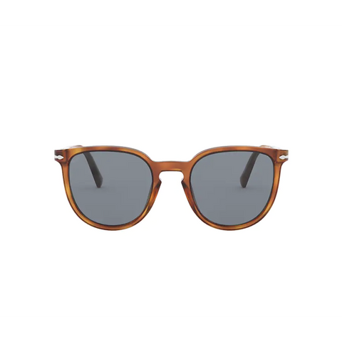 Persol Sunglasses - Terra Di Siena w/ Lt Blue Lenses-Sea Biscuit Del Mar