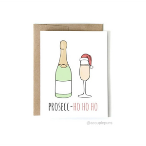 Prosecco HO HO HO Card-Sea Biscuit Del Mar