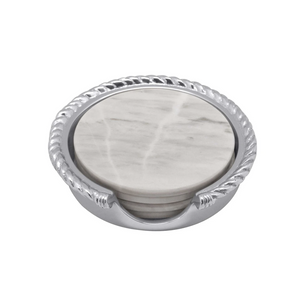 Rope Marble Coaster Set-Sea Biscuit Del Mar