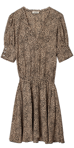 Russel Leo Print Dress-Sea Biscuit Del Mar