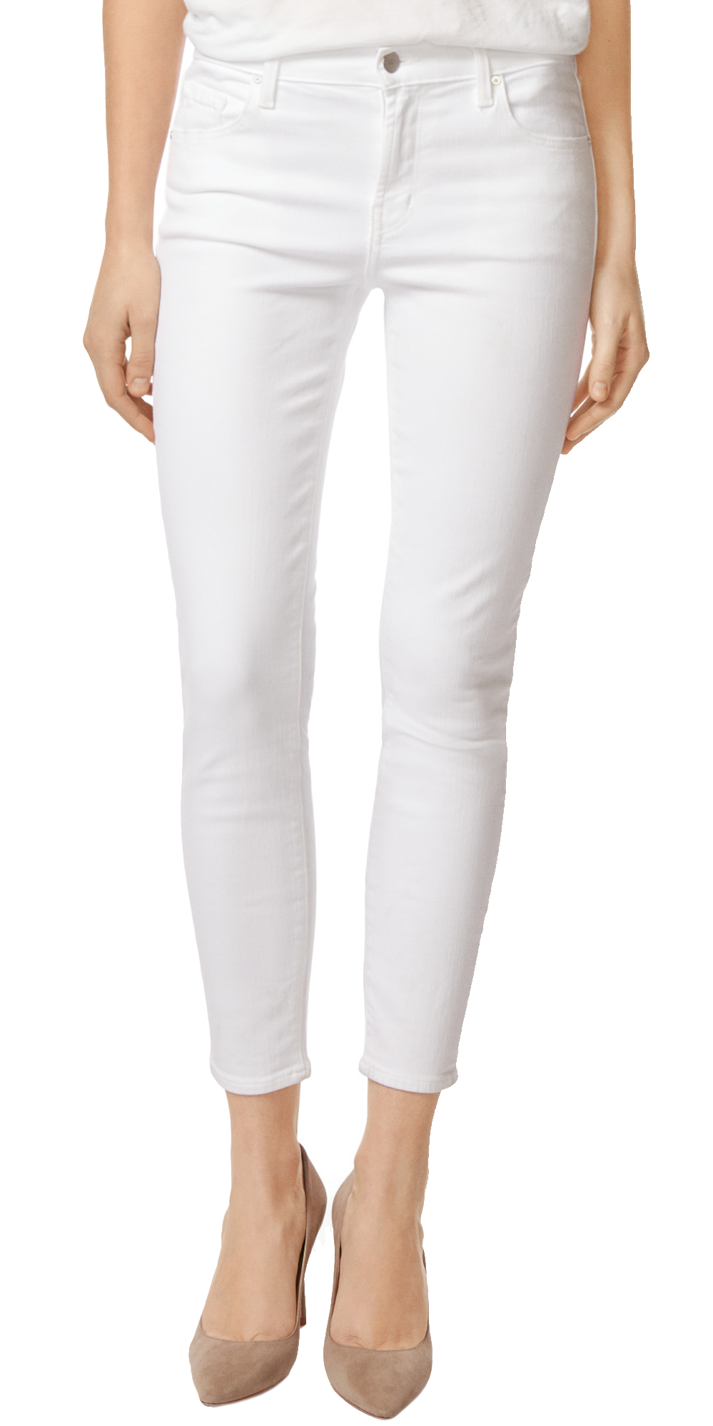 Selena Mid-Rise Crop Boot Cut - Blanc-Sea Biscuit Del Mar