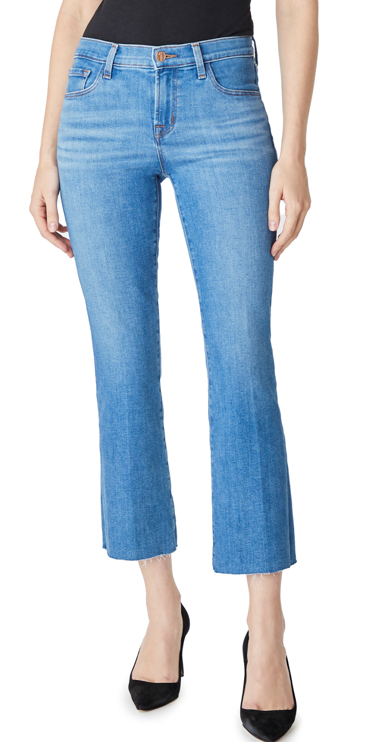Selena Mid-Rise Crop Boot Cut - Cerulean-Sea Biscuit Del Mar