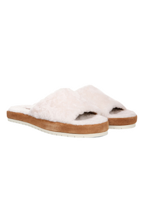 Shearling Kalina Slide Sandal-Sea Biscuit Del Mar