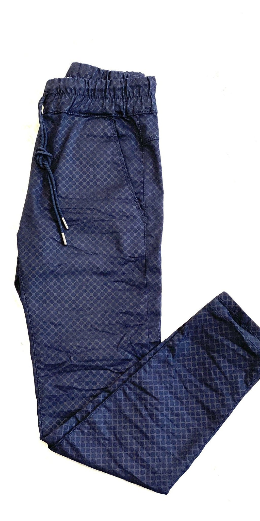 Shely Pant - Navy Diamond-Sea Biscuit Del Mar