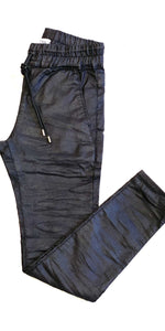 Shely Pant - Vegan Leather Snake-Sea Biscuit Del Mar