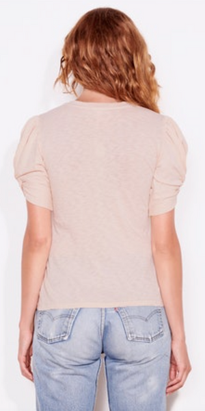 Short Sleeve Puff Top - Sand-Sea Biscuit Del Mar