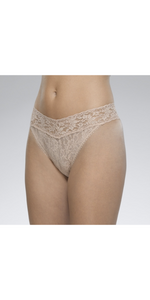 Signature Lace Original Rise Thong-Sea Biscuit Del Mar