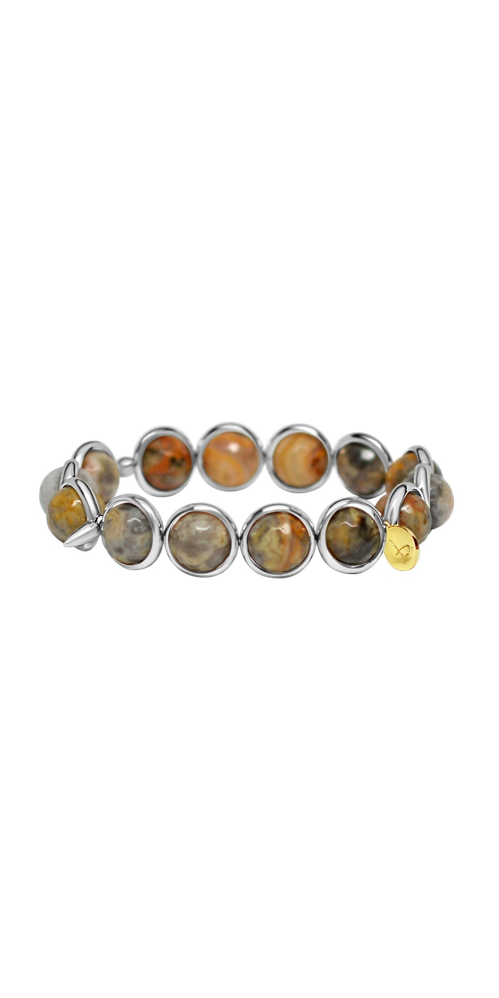 Skye Eye Jasper Bead Bracelet - Silver-Sea Biscuit Del Mar