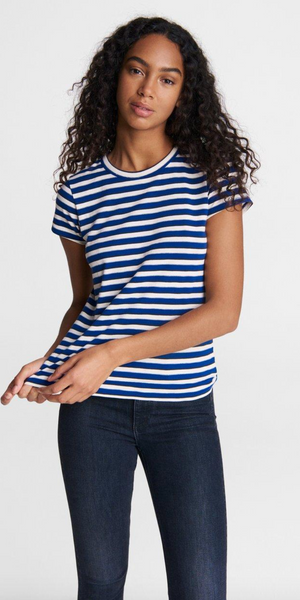 Slub Striped Tee-Sea Biscuit Del Mar