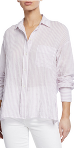 Striped Boxy Long Sleeve Shirt-Sea Biscuit Del Mar