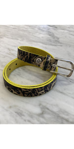 Suede Cara Leopard Belt-Sea Biscuit Del Mar