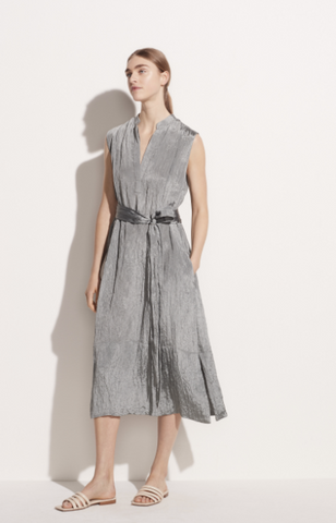 Textured Sleeveless Popover Dress-Sea Biscuit Del Mar