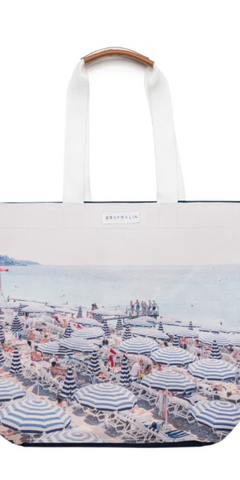 The French Riviera Tote Bag-Sea Biscuit Del Mar