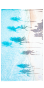 The Hawaii Palm Shadows Towel-Sea Biscuit Del Mar
