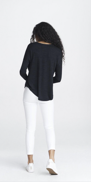 The Knit Tee - Navy/Black-Sea Biscuit Del Mar