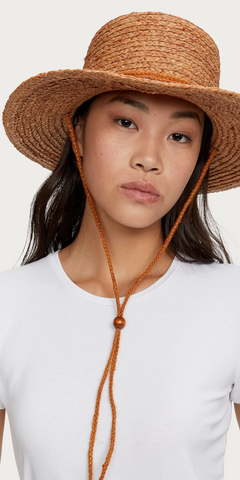 Thea Woven Hat - Penny-Sea Biscuit Del Mar