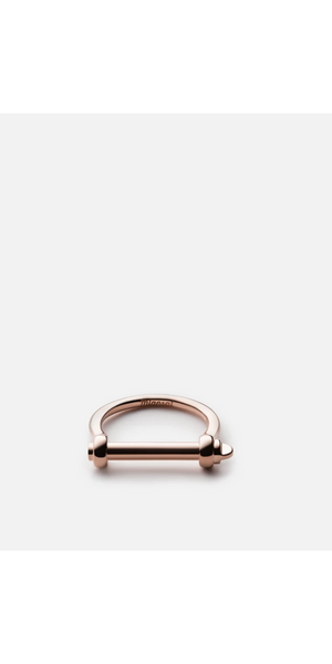 Thin Screw Cuff Ring - Sterling Silver / Gold /Rose-Sea Biscuit Del Mar