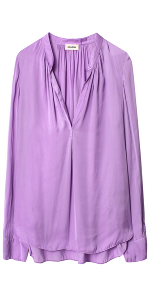 Tink Satin Tunic - Mauve-Sea Biscuit Del Mar