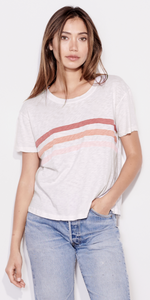 Tri Stripes Tee-Sea Biscuit Del Mar