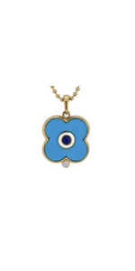 Turquoise Evil Eye Charm - 14k-Sea Biscuit Del Mar