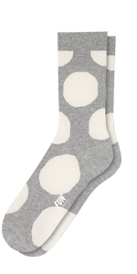 Women's Dot Crew Sock-Sea Biscuit Del Mar