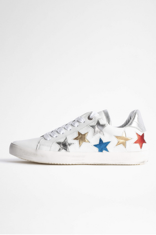 Zadig Used Star Sneakers-Sea Biscuit Del Mar