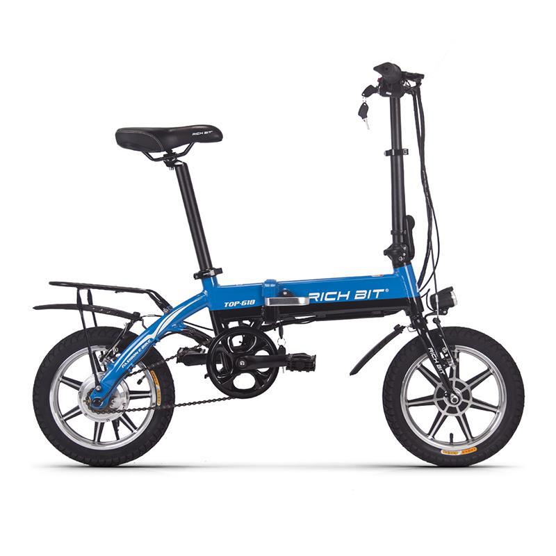 c8f64d5b7e1 Portable Folding Electric Bicycle-Blue 250W - Next Up Trends