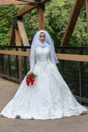 Ball Gown Crystal Bridal Dress