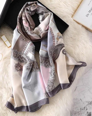 Essense Satin Printed Scarf