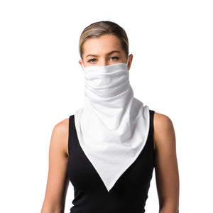 Convertible Mask Scarf White