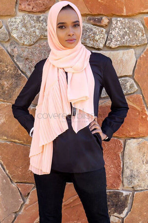 Chiffon Pleated Edge Scarf