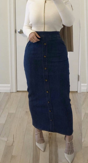 Lorna Denim Skirt Navy