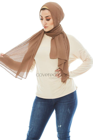 Pleated Chiffon Scarf
